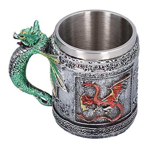 髑髏カップ、ビールカップ髑髏頭パターンカップ樹脂ステンレス鋼パーソナライズドカップホームハロウィーンフェスティバル