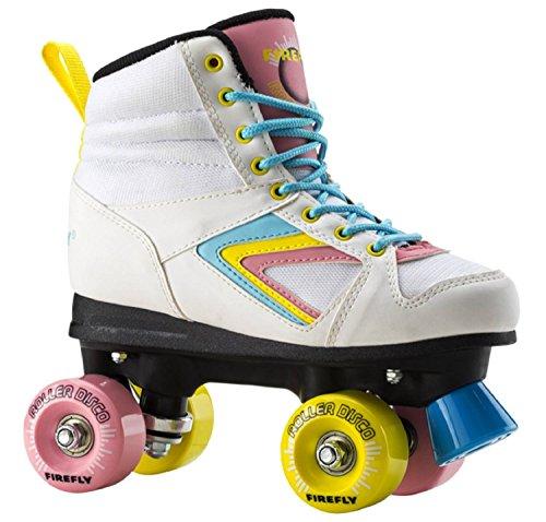 FIREFLY Rollschuhe Rollerskate Roller Disco WEIß/PINK/BLAU 35