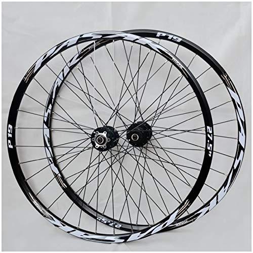 ZPPZYE Ruedas de Bicicleta MTB de 26'27,5 Pulgadas Pared Doble Aleación Rueda Bicic 29er Llanta Híbrida/Montaña Compatible 7/8/9/10/11 Velocidad (Color : Black, Size : 26 Inch)