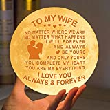 Engraved Moon Lamp Night Light for Wife - You are My Everything I Love You - Moon Light with Remote & Touch Control Brightness - Perfect Valentine's for Wife