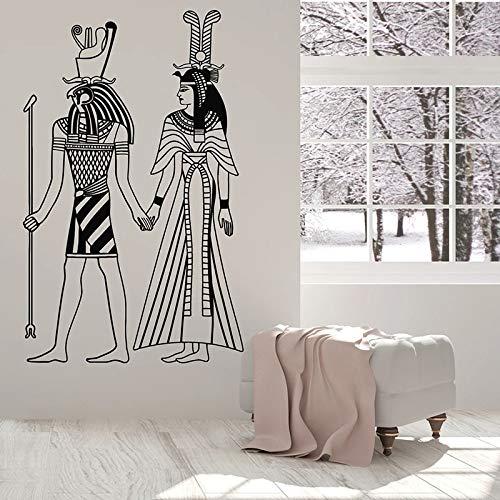 wZUN Calcomanía de Pared Dios Egipcio Antiguo Pegatinas de Vinilo Sala de Estar Dormitorio Adolescente decoración Papel Tapiz Creativo 57X35cm