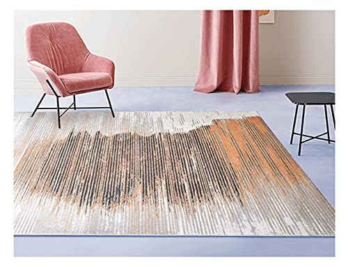 Carpets, Modern Minimalist Bedroom Light Luxury Art Area Rugs, Oval Balcony, Piano Floor Mats, Indoor Bedside, Chair Mats, Gift (Color : Multi-Colored, Size : Square)