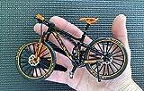 BicycleCrazy Figura de bicicleta en miniatura (escala 1:10), color naranja