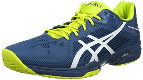 ASICS Gel-Solution Speed 3, Scarpe da Tennis Uomo, Multicolore (Indigo Blue/White/Lime), 44.5 EU