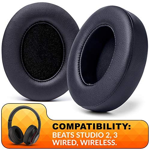 WC Wicked Cushions Upgraded Replacement Ear Pads for Beats Studio Headphones - Compatible with Studio Wired B0500 / Wireless B0501 / Studio 3 Over-Ear Headphones (Does Not Fit Beats Solo) | Black