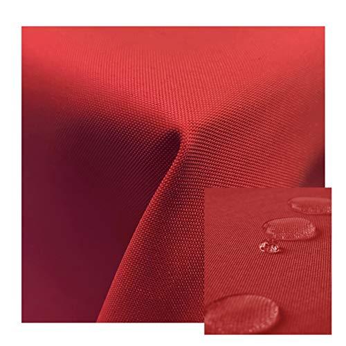 JEMIDI Gartentischdecke abwaschbar mit Fleckschutz Outdoor Tischdecke Pflegeleicht Außentischdecke Rot 160cm Rund