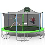 Tatub 16FT Trampoline for Kids, Outdoor Trampoline with Safety...