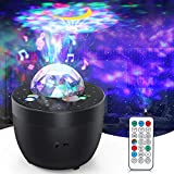 Star Galaxy Projector, Night Light Projector with White Noise & Remote Control for Bedroom/Party/Home Decor, Starry Projector with Voice Control and Timer for Adults