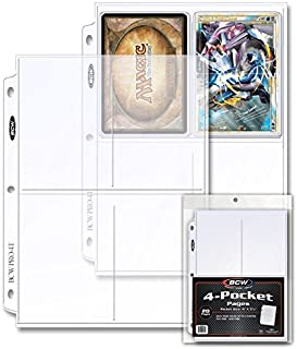 "BCW 4-Pocket Pages for storing Photos or Postcards | Pocket Size 4"" x 5-1/2"" 