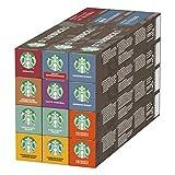 Starbucks Variety Pack de Nespresso Cápsulas de Café, 12 x Tubo de 10Unidades