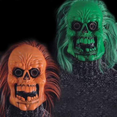 CARNIVAL TOYS S.R.L., Masque de crâne avec des Cheveux Orange C