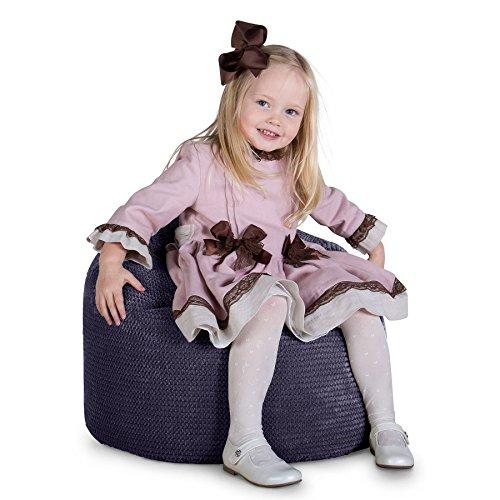 Lounge Pug®, Sitzsack Kinder, Kindersessel, Pom-Pom Lila