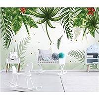 Iusasdz カスタム写真壁紙東南アジア熱帯雨林バナナの葉の背景壁シルク素材3D壁紙R-400X280Cm