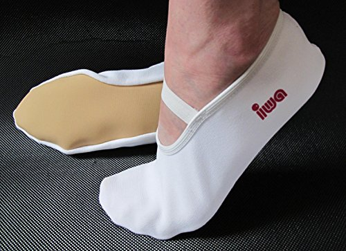 IWA 250 Trampolin Schuhe Gymnastikschuhe Turnschläppchen weiß: Größe: 39 | Farbe: weiß