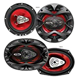 BOSS Audio Systems CH6530 Car Speakers - 300 Watts of Power Per Pair and 150 Watts Each, 6.5 Inch,...
