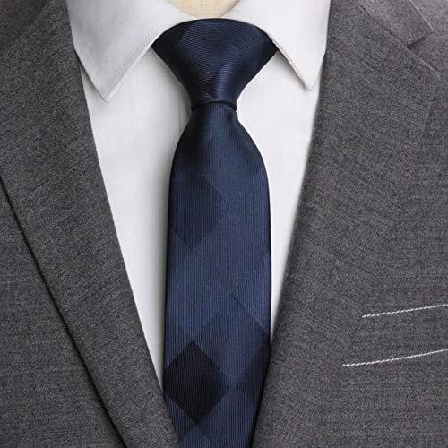 FDHFC Corbatas para Hombre Corbata Delgada Raya 6 Cm Corbatas para Hombres Boda De Negocios Jacquard Pajarita Camisa De Vestir Masculina