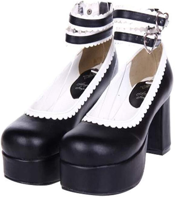 PINGXIANNV Mori Damenschuhelolita Damenschuhe Damen High Heels Damen Prinzessin Kleid Schuhe  | Ausgezeichneter Wert