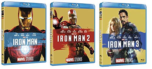 Iron Man Trilogia - Iron Man 1 + 2 + 3 (3 film in BLU-RAY Edizione Marvel 10° anniversario) Edizione Italiana