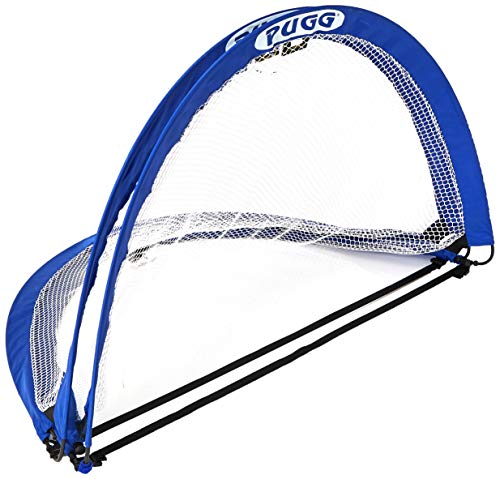 PUGG 4 Foot Pop Up Soccer Goal - Portable Training Futsal Football Net - The Original Pickup Game Goal (Two Goals & Bag)
