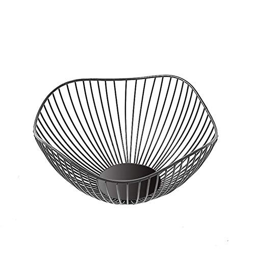 Metal Wire Fruit Basket, Fruit Basket Bowl, Fruit Dish Bowl Basket Container Bowl, Round Storage Baskets for Bread,Fruit,Snacks,Candy,Households Items, Kitchen Organizer Basket