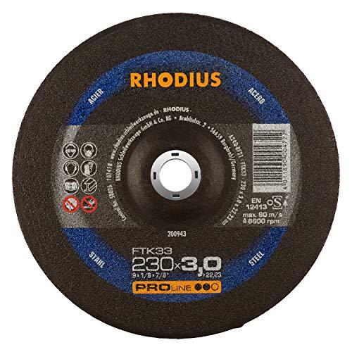 RHODIUS Trennscheiben Stahl FTK33 Made in Germany Ø 230 mm für Winkelschleifer Metalltrennscheibe 25 Stück