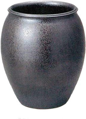 ヤマ庄陶器 傘立て ブラックなど 約径36.0×高41.0cm 信楽焼 ラスターブラックG傘立