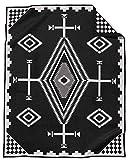 Pendleton Los Ojos Wool Blanket - Black/White, Twin Size