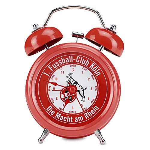 1. FC Köln Wecker rot, Glockenwecker, Uhr - Plus Lesezeichen I Love Köln