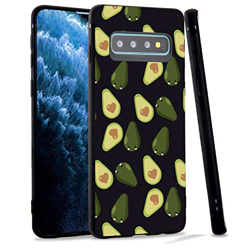 LuGeKe Avocado Fruit Phone Case for Samsung Galaxy S9+ Plus, Cute Avocado Patterned Case Cover,Soft TPU Cover Flexible Ultra Slim Anti-Stratch Bumper Protective Girls Phonecase