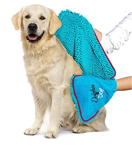 Dog and Dolphin Towel - Dog Towels -...
