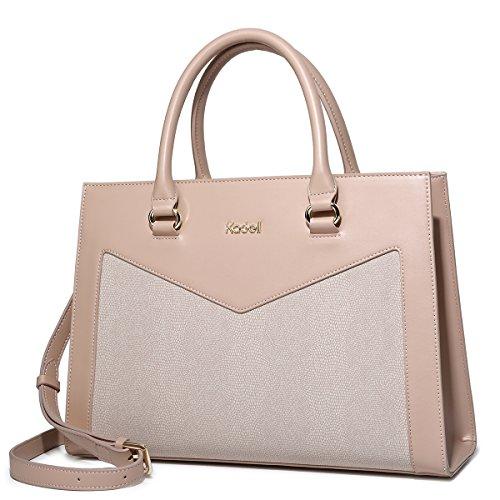 Kadell Frauen Handtaschen Leder Schultertasche Elegante Business Damen Taschen Hellrosa