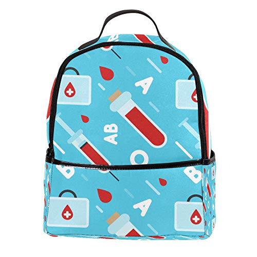 KAMEARI Mochila escolar para dibujar sangre, tipo informal, para viajes, con bolsillos laterales para botella