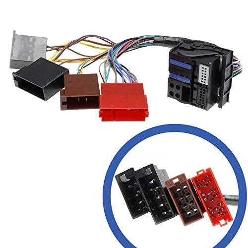 Adapter Universe Auto Radio RNS-E Navigation Kabel Mini ISO Quadlock Stecker kompatibel mit Audi