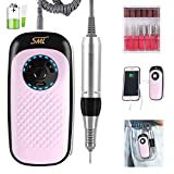 35000 rpm Portable Electric Nail Drill Machine 11.1V Rechargeable Battery Professional Nail Drill Manicure Pedicure Electric Nail File for Acrylic Gel Nails