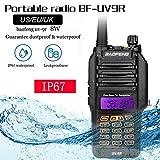 KiGoing Walkietalkie UV-9R de Baofeng, IP67 Impermeable y a Prueba de Polvo Walkie Talkie de Largo Alcance de 8 vatios Radio de 10 km de Banda Dual Radio CB
