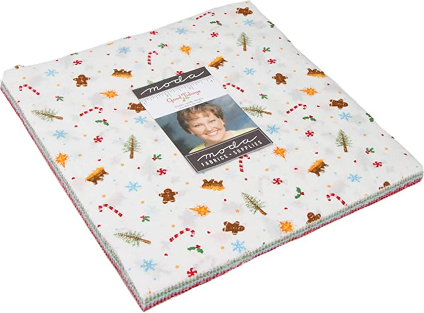 Good Tidings Layer Cake, 42-10 inch Precut Fabric Quilt Squares by Brenda Riddle Designs
