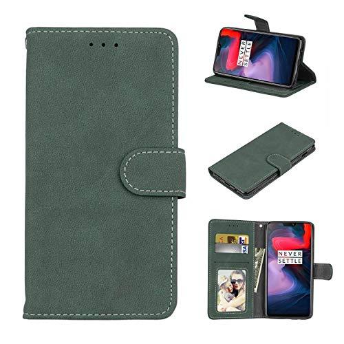 Cofola Für Nokia Lumia 930 Hülle, Retro Frosted Leder Wallet Schutzhülle Case Cover für Nokia Lumia 930 [Grün]