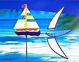 FidgetGear RHOMBUS Windspiel Windmühle'Segelboot', 46 x 110 cm, für Garten und Strand as picture show One