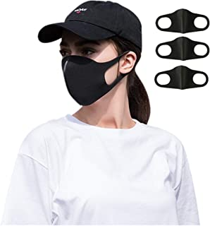 Mouth Mask Unisex Adult Ear Loop Mouth Mask, Washable and Reusable Face Mask Breathable Safety Warm Windproof Mouth Cover,Anti Flu Masks - Comfy Breathable Safety Air Fog Respirator (Black)