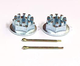 SET OF 2 REAR AXLE CASTLE NUTS & PINS FITS FOR HONDA TRX400EX 400 1999-2008,ATC200X ATC250SX,TRX250EX,TRX250X,TRX300EX,TRX450R,ATC250ES,