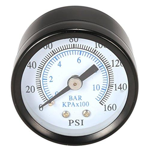 Manometer, Anschluß Unten Gewinde 1.58Zoll Dia 1/8Zoll 0 160 PSI Druckmesser Z.B. Für Druckminderer, Wasserfilter, Druckanzeiger, Druckanzeige