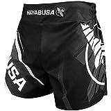 Hayabusa Kickboxing Shorts - Black/Grey, 32