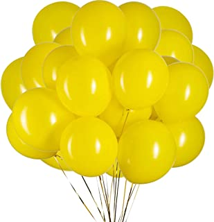 12 inch Yellow Latex Balloons Helium Balloons Quality Black Balloons Party Decorations Supplies Pack of 100