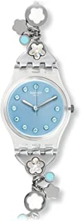 Swatch Women's Blue Dial Stainless Steel Band Watch - LK356G