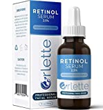 Orlette Retinol Serum for Face with Hyaluronic Acid - Resurfacing Retinoid Serum with Vitamin A-E, Medical Grade 2.5% Retinol Anti Wrinkle Facial Serum - Boost Collagen Reduce Fine lines and Age Spots