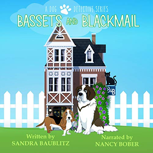 Bassets and Blackmail audiobook cover art