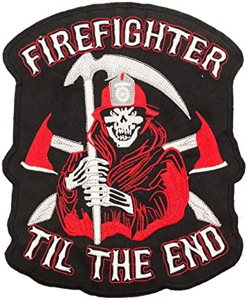Firefighter motorcycle patches