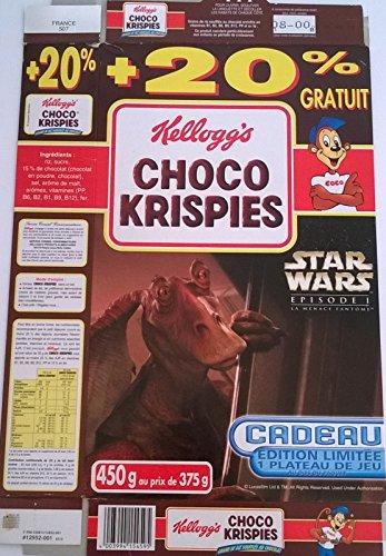 Star Wars - Kellogg's/Choco Krispies - Star Wars-Episode I-La Menace Fantôme - emballage 450 g - plateau de jeu Combat spatial