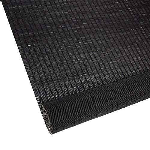 Jcnfa-rolgordijn zwart fijn bamboe rolgordijnen, schaduw tarief 50%, venster blinde zon schaduw, licht filteren Roll Up jaloezieën, Tuin, Patio, galerij, balkon