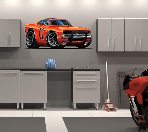 48' Dukes of Hazzard General Lee 1969 Dodge Charger car HUGE Wall Graphic Decal Sticker Man Cave Garage Room Decor NEW